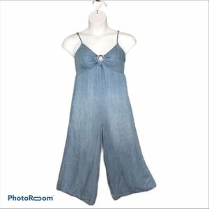 Coco + Jaimeson lightweight chambray romper size s